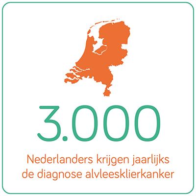 2800 nederlanders krijgen jaarlijks de diagnose alvleesklierkanker.