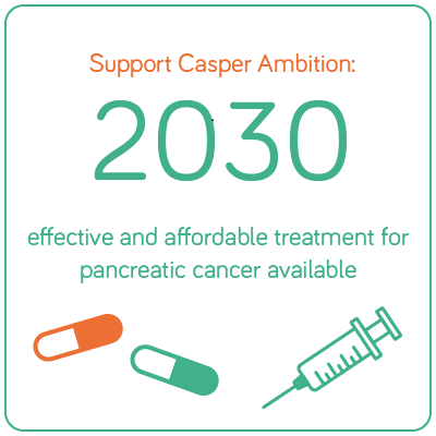 Ambitie Support Casper: in 2030 effetieve en betaalbare medicijnen voor alvleesklierkanker beschikbaar.